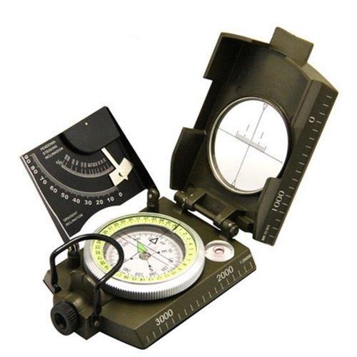 iDream mit deutscher und englischer Anleitung Militär Marschkompass Peilkompass Outdoor-Militär Prisma Kompass Military kompass (Fluoreszenz und Schräge-Test)