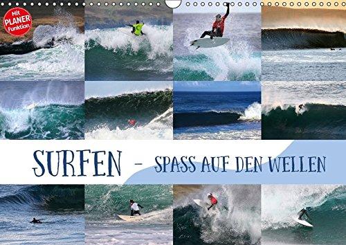 Surfen - Spaß auf den Wellen (Wandkalender 2018 DIN A3 quer): Surf-Spaß für zuhause (Geburtstagskalender, 14 Seiten ) (CALVENDO Sport) [Kalender] [Feb 02, 2017] Cross, Martina