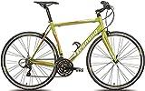 Legnano 28 Zoll Rennrad Flat Bar LG36 27 Gang, Farbe:Grün, Rahmengröße:44cm