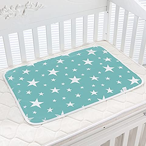T-Trees Baby Pad Urine Pad 100% Natural Cotton,Waterproof,Washable,Environmental Protection Pad -50*70 cm for Baby Stroller ,Children or Adults with Incontinence (Star