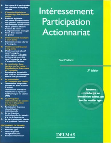 Intéressement - Participation - Actionnariat