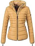 Marikoo Damen Winter Jacke Steppjacke Amber (vegan hergestellt) Camel Gr. M