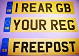 Picture Of Rear Standard GB Euro Number Plate 100% MOT Compliant - Car / Van