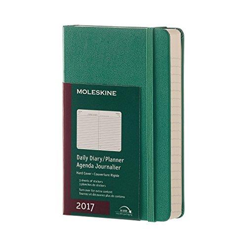 Moleskine DHK1312DC2Y17 - Agenta diaria 12 meses, pocket 9 x 14, color verde