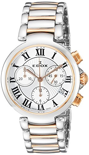 Edox Women's La Passion 35mm Steel Case Swiss Quartz Watch 10220 357RM AR