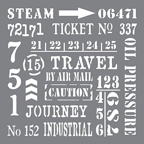 Deco Art Kunststoff Andy Skinner Mixed Media Schablone 8Zoll x 8-inch-Industrial Elements - Art-deco-möbel