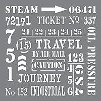 Deco Art Pochoir en plastique Andy Skinner Techniques mixtes 20,3cm X 20,3cm Motif industriel