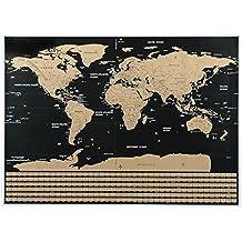Mapa del mundo para rascar. MOMIUS WorldMap. Mapa con todos los paises del mundo, los estados de EEUU y las banderas de los paises. Regalo ideal para viajeros. Incluye rascador y goma de limpieza