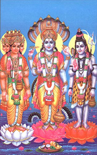 the-trio-brahma-vishnu-mahesh-hindu-god-postcard-reprint-on-paper-size-5x7-inches