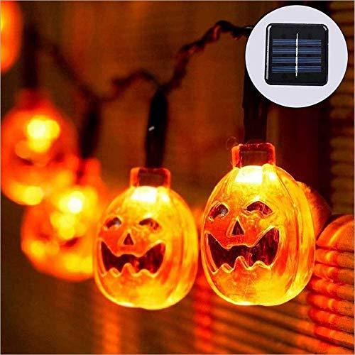 Halloween Dekoration Licht liefert Requisiten Szene Bar Licht 10LED Kürbis Lampe Schädel Kopf Lichterkette