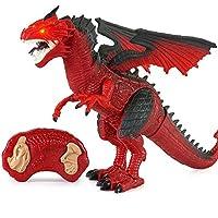 Infrarrojo RC Dinosaurio Control Remoto Dragon Shaking Head Light Up Ojos Y Sonidos Juguetes RC Haciendo Diversión RC Eléctrico Animales Modelo Niños,Red