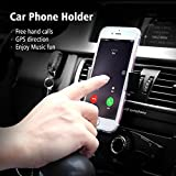 CEUTA (™) , Universal Air-Vent Car Mount Mobile Holder Stand Cradle | Portable Pocket Sized | Lightweight | Travel Stand With Expandable Jaw & Steady Grip | For All Mobile Phones [ 4 Inch To 5.55 Inch ].