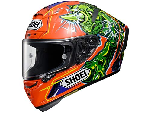 Shoei X-Spirit III Power Rush TC-8 - Casco integrale da moto, colore: arancione