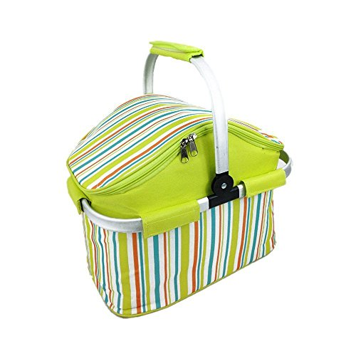 ETTG Insulated Folding Cooler Picnic Basket Bag Thermal Tote