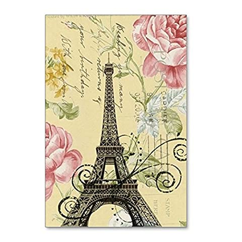 CafePress - Floral Paris Eiffel Tower - Postcards (Package of 8), 6