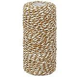 Drawihi Bastelschnur Jute Seil Gartenschnur Hanf Seil Cotton Thread für Crafts Arts und Gardening Dekoration (Braun) 100m*1.5mm