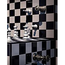 Chess: Giant Sized Notebook/Journal with 600 Lined & Numbered Pages: Chess Game Cover Design (8.5 x 11/300 Sheets)