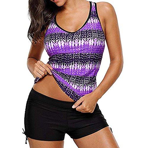 8bb0ddd003f0 Topgrowth Costumi da Bagno Donna Vita Alta Taglie Forti Swimsuit Gradiente  Tankini Bikini Pantaloncini bagnarsi Costume ...