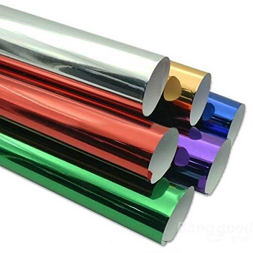 mark8shop 1.52mx30cm Air Channel Material Spiegel Wrap Folie Reflektierende Aufkleber