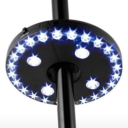 Montiert, Outdoor-licht (Terrasse Regenschirm Licht 28LED Schnurlose Garten Leichte Akku Outdoor Balkon Regenschirm Pole Lichter montiert 3Licht-Modus dimmbar Schalter für Regenschirm Camping Zelt Licht BBQ oder Spielkarten)
