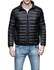 CLOCOLOR Hombre Abajo Chaqueta de Pluma Packable Chaqueta de Invierno con Cremallera Peso Ligero Térmico Abrigo
