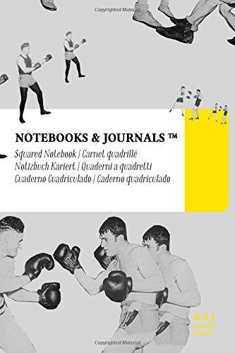 Carnet Quadrillé A6 Notebooks & Journals, Boxe (Collection Vintage), Pocket: Couverture souple (10.16 x 15.24 cm)(Carnet de Notes, Carnet de Voyage, Cahier de Texte) par Notebooks and Journals