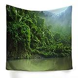 xkjymx Tissu à Suspendre décoratif Rainforest Print Tapestry Picture 4 150X150cm