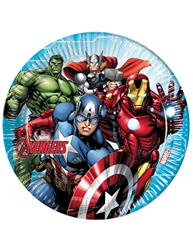 51DJeypVF4L - Procos plato 23cm Avengers Mighty, Multicolor, 5pr87962