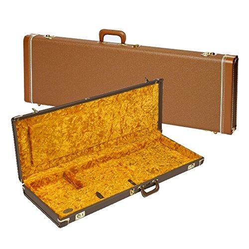 Deluxe Hardshell Case Brown Tolex Gold Jaguar/Jazzmaster -