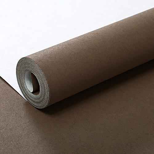 YUELA Einfache, moderne reine Plain Long fibre Vliestapeten Tapete grün rosa Schlafzimmer Wohnzimmer Hintergrundbild, 022 - Kaffee Farbe, Tapete nur