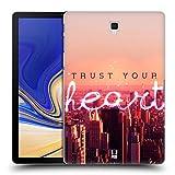 Head Case Designs Herz Stadtbild In Der Dämmerung Worte Fürs Leben 4 Ruckseite Hülle für Samsung Galaxy Tab S4 10.5 (2018)