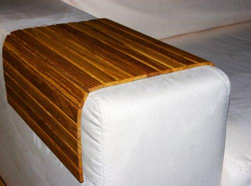 LAXLY Sofatablett 50 x 35 cm, eiche, Armlehnenschoner, Lehnenschoner aus Holz für Sofa, Couch und Sessel (Eiche, 50 x 35 cm) -