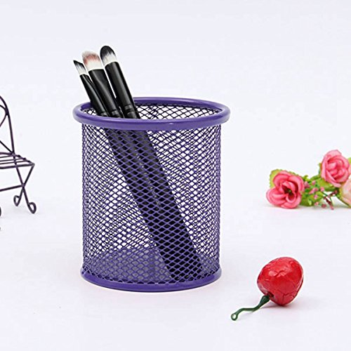 Lila-organizer Office (cosanter Stiftehalter Mesh Zylinder Make-up-Pinsel Container Lila Office Supplies Organizer)