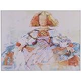 Belssia Cuadro con Diseño Menina, Madera, Multicolor, 100.5x2x76 cm