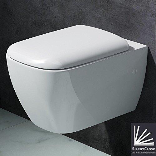 Mai&Mai Design Hänge Toilette, mit Silent Close Absenkautomatik