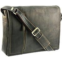 Visconti Hunters-Borsa a tracolla in pelle con tasca removibile per