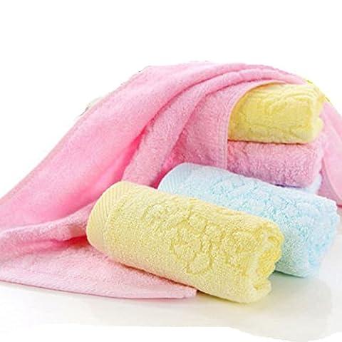 Iceko Ultra doux bébé de bain Gants de Toilette Serviettes de bambou 100% naturel Idéal pour les peaux sensibles pour bébé Lot de 530,5x 30,5cm