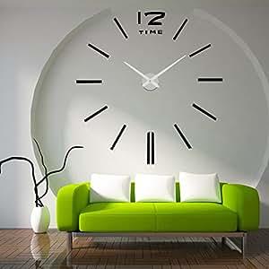 Lifeup orologio da parete grandi nero argento adesivi murali decorazioni da parete muri - Poster grandi da parete ...