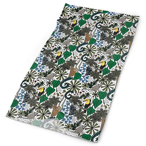 Women Men Outdoor Sports Bandana Headbands Cute Sloth And Tocan Rainforest Life Multifunctional Magic Scarf For Outdoor And Sport Activities,Running,Hiking,Biking & Riding,Hunting,Yoga Workout - Rainforest Activity