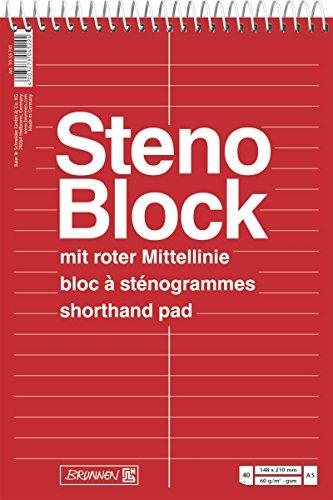 Baier & Schneider Notizblock Stenoblock, 210, 60 g/qm, A5, 148, 40 Blatt