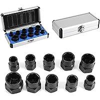Yosoo - 10 piezas de herramientas de rosca con pernos de tuerca, portarrollos, conjunto de rapto extractora