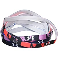 Under Armour UA Mini Graphic HB 6Pk Cinta de Pelo, Mujer, Rosa, Talla Única