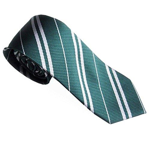 Grüne Gesponnene Krawatte (OHQ Krawatten, Herren Patterned Krawatten Krawatten Silk Business Suit Jacquard gewebt (Grün))