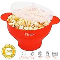 Firlar, macchina per popcorn,scodella pieghevole per cuocere i popcorn nel forno a microonde, in silicone,macchina pop corn coperchio