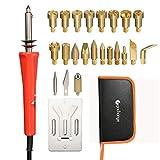 24piezas Juego de pirograbado Leña Soldadura Pen Tool Set, gochange 30W 20PCS Pins de latón...