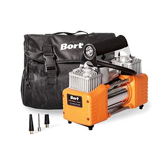 Bort Auto Kompressor BLK-700x2 12 V, 70 Liter/Minute, 200 W, Anschluss über Zigarettenanzünder, inkl. 3 Zusatzadapter