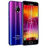 Moviles Libres Baratos 4G,V Mobile J7 5,5 Pulgadas 3GB RAM 32GB ROM,5800mAh Bateria,8MP Camara,Dual Sim,Face ID (Violet)