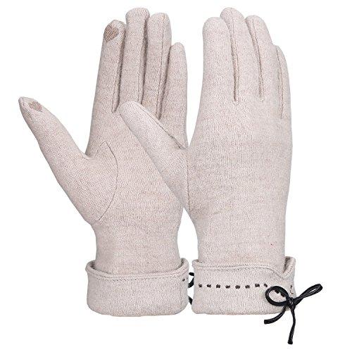 Magic Zone Damen Touchscreen Handschuhe Winter dicke warme gefüttert smart schreiben Handschuhe (Element-fleece-handschuhe)