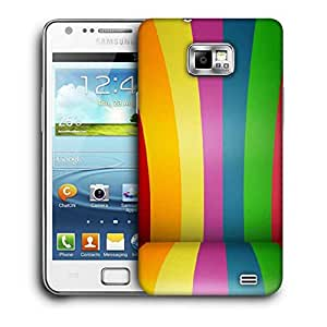 Snoogg Colorful Bandwidth Printed Protective Phone Back Case Cover For Samsung Galaxy S2 / S II
