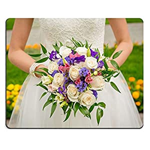 liili Mouse Pad de goma natural mousepad imagen ID 32098723es de la novia boda brillante ramo